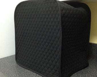Black Espresso Maker Cover Quilted Fabric Kitchen Home Decor Small Appliance Cover Made to Order