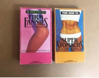 LOT Of 2 By Joanie Greggains FIRM FANNIES - Super Stomachs vhs