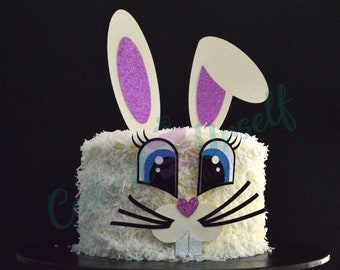 Bunny/rabbit cake topper set