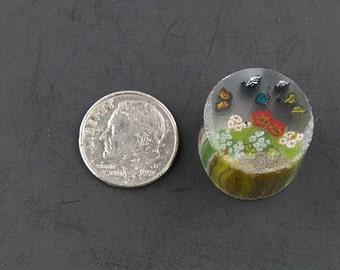 Le jardin des papillons par Greg Chase Murrine Boro canne 10 grammes - I 125