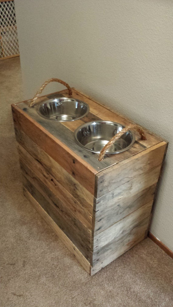 18 Tall Custom Dog Bowl Stand W Removable Lid