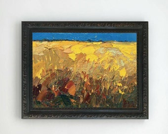 Landscape Painting Abstract Painting Modern Painting Cornfield Painting Landscape Art Landscape Oil Painting Gifts for Men Gift for Husband