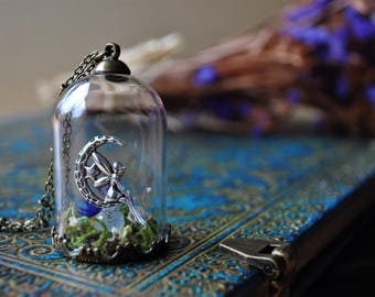 Fairy dreams * bronze blossoms vial terrarium necklace wild