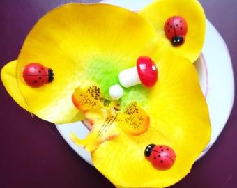 Summer Orchid Hair Flower/Decoration/Clip