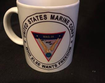 Vintage  Mug Operation Freedom Iraq War Collectible Cup Marines