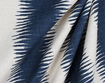 Jiri Nina Navy Birch Curtains, Sale on Window Treatments, Ikat Curtains, Living Room Curtains,