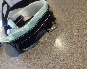 Adjustable mint green and black collar/chocker