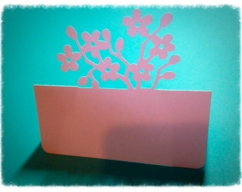 Cherry Blossom Place Card Settings