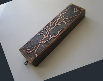 Tree of Life Mezuzah, Etched in Copper