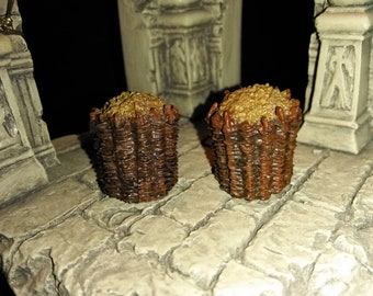 D&D Pathfinder Handpainted Miniatures, Set of 2 Gabions scenery for Dungeons and Dragons, Tabletop Roleplaying RPG gaming