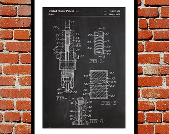 Electrical blueprint etsy spark plug print spark plug poster spark plug patent spark plug art malvernweather Image collections