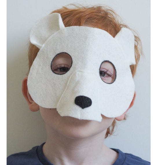& Polar Bear Mask Polar Bear Costume Halloween Kids Costume