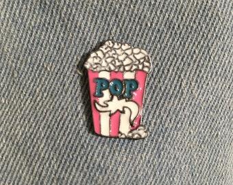 Pink Popcorn enamel pin