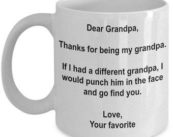 Grandpa Gift, Grandpa Coffee Mug, Grandpa Mug, Gifts for grandpa, Best Grandpa mug, Birthday Gift, Thank you for being my Grandpa