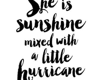 Sunshine & Hurricane Print