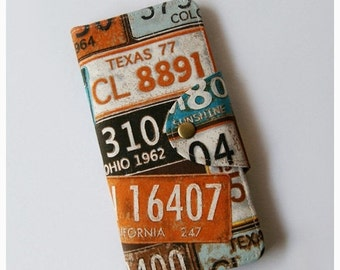 Vintage Number Plates Long Passport Wallet, Boarding Pass Holder, Family Passport Wallet