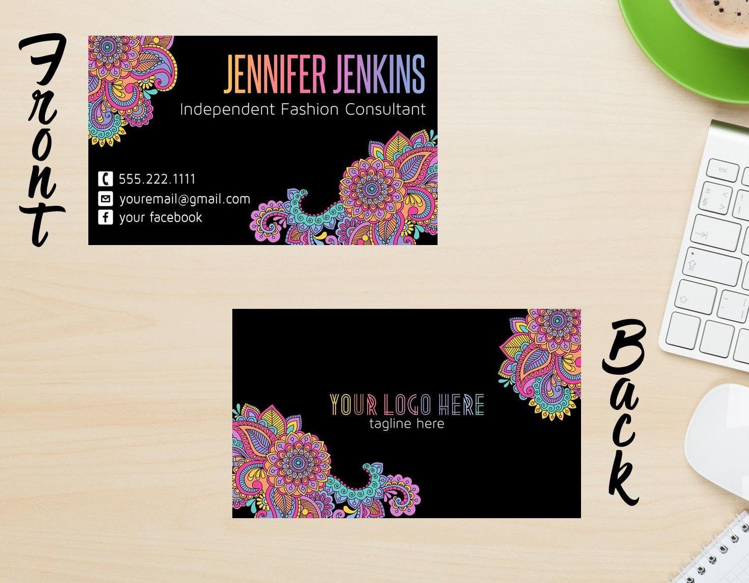 Pop up Boutique Business Card Fashion Consultant Business