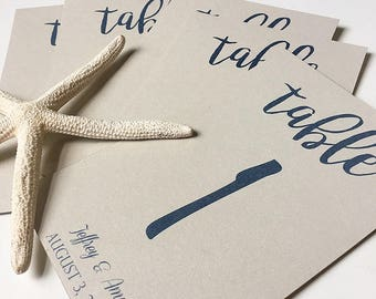 Wedding Table Numbers, Beach Wedding, Starfish Table Numbers