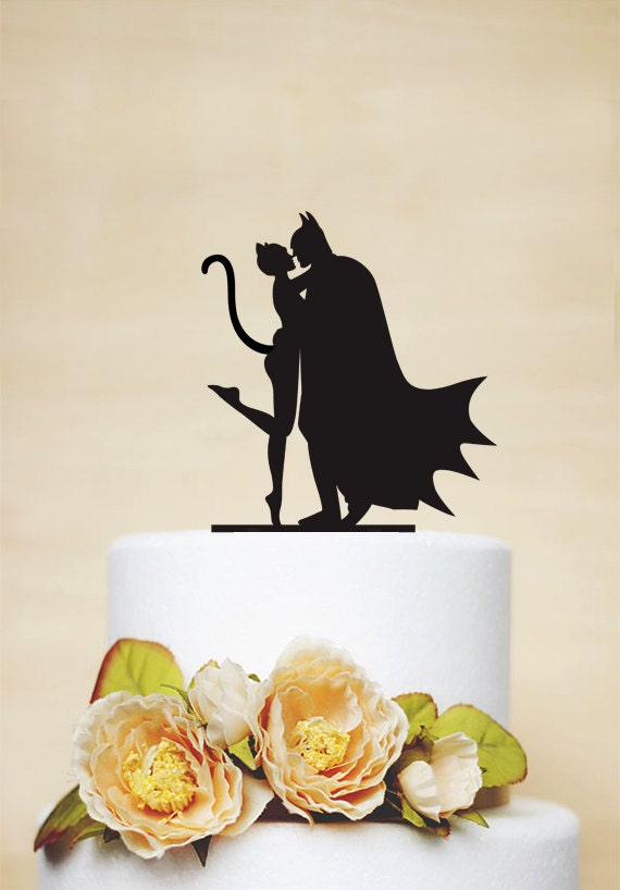 Batman Catwoman Wedding Cake Topper