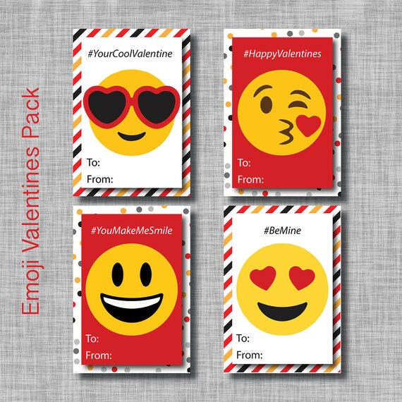 Emoji Valentine Cards Emoji Valentines Emoji Valentines Day