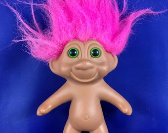 Vintage Pink Hair Naked Collectible Troll Doll 1991 T.N'.T. Troll Figurine Retro Troll Toy Add To Your Troll Collection