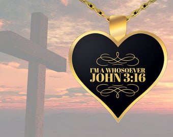 Whosoever Gold Heart Necklace | Unique Valentines Gift | FREE SHIPPING | Christian Gift | Gift for Wife | Girlfriend Gift | Daughter Gift