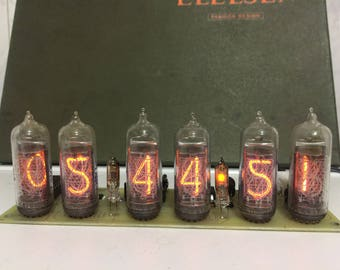 Nixie Tube Clock IN14 Without the backlight!