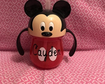 "Monogram ""micky"" non-spill sippy cup"