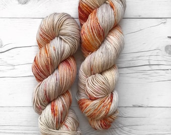 "Single Ladies Base - ""Sunkissed"" - Single ply Fingering - Hand Dyed Yarn"