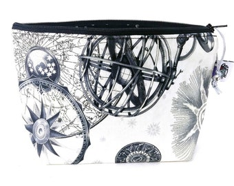 Gusseted Zipper NOTIONS POUCH with zipper pull - Navigate