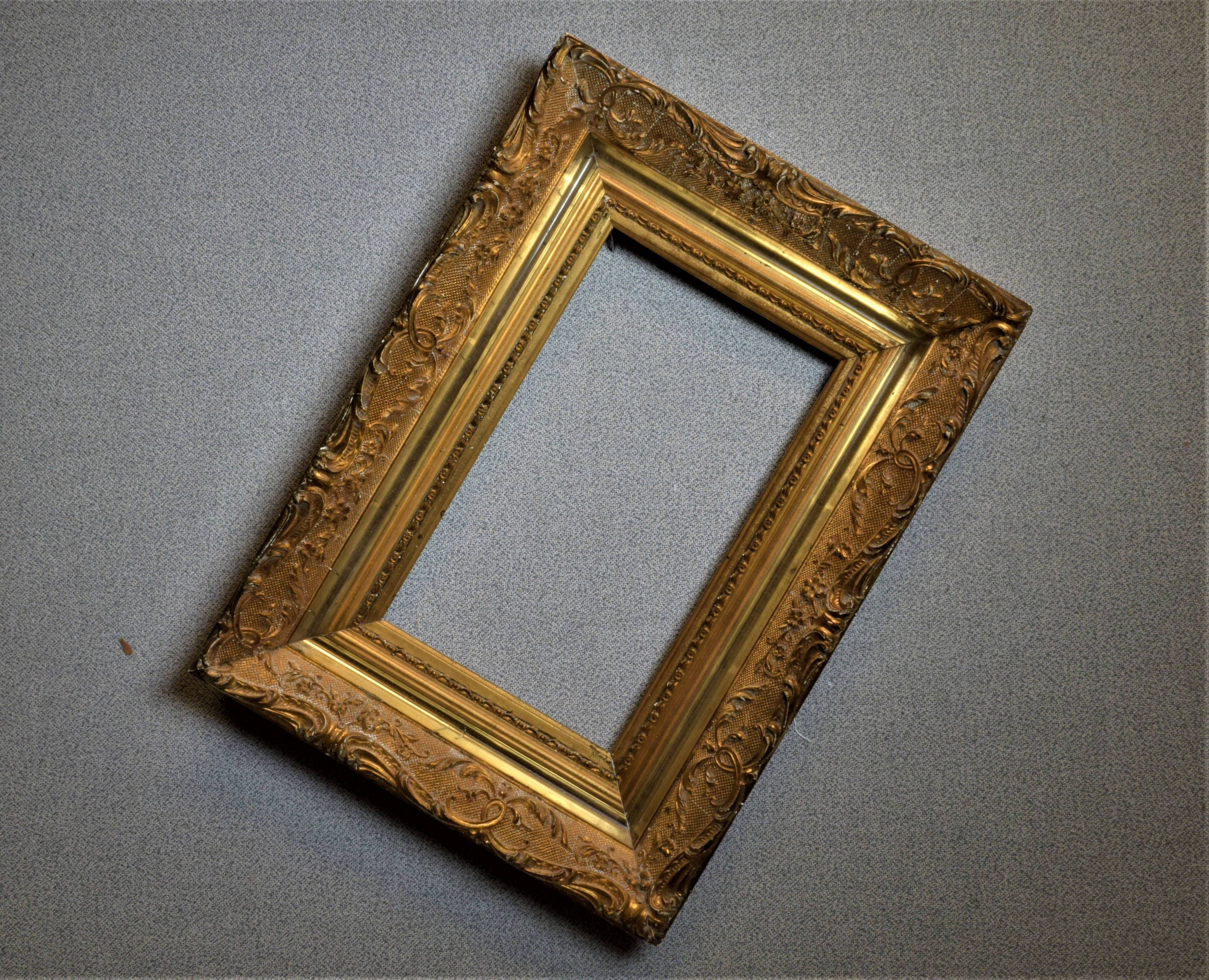 6x9 (approx) Frame Ornate Gold Vintage with Optional Complete Frame ...