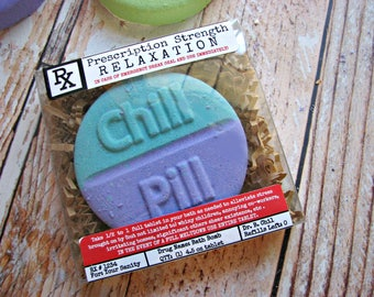 Mothers Day Bath Bombs - Funny Mothers Day Gift - Funny Mom Gift - Chill Pill Bath Bomb - Mothers Day Gift Idea- Mothers Day Gift for Sister