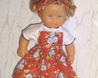 38-40 cm skirt, blouse, turban doll clothes.
