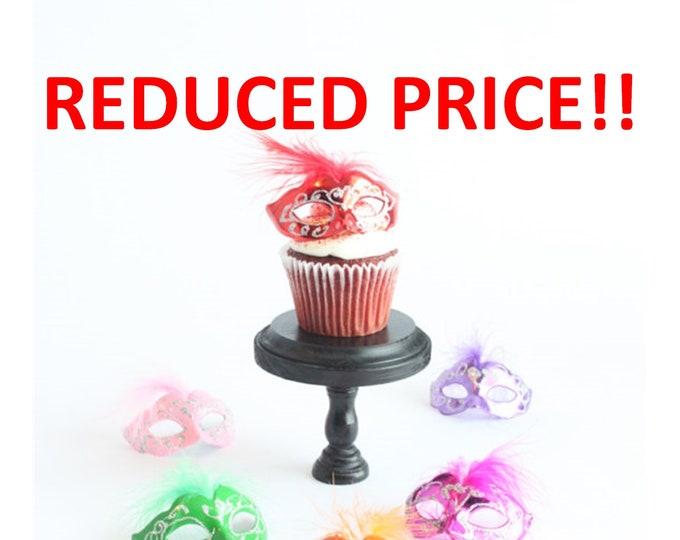 Featured listing image: Miniature, Mini Masquerade Masks Cake Topper, Cupcake Topper, Paris Decoration, Centerpiece Decor, overthetopcaketopper, SALE, Discount