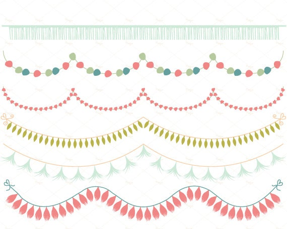 21 Garlands Clipart Vector And PNG Bunting Flags