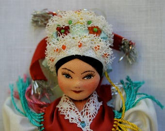 Living Traditions In Kazár ~ A Vintage Stockinette Doll From The Palóc Region Of Hungary