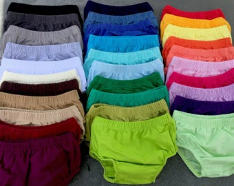 Soft Cotton Diaper Covers/31 Color Choices/Baby Diaper Covers/Boy & Girl Diaper Covers/Infant Diaper Covers