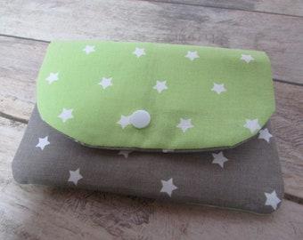 Double star - 15 x 11 cm - cotton - 176 fabrics zipper pouch, wallet