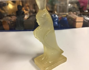Unique Egyptian Goddess Isis Hand Carved  Glow In The Dark Made In Egypt