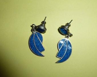 Vintage Alpaca 925 with Turquoise Post Drop Earrings