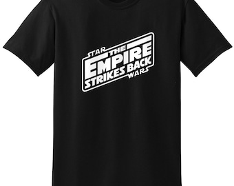 Star Wars Inspired The Empire Strikes Back Logo T-Shirt T-Shirts Tops Women Men Boys Girls Ladies Unisex Fit