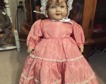 Vintage Composition Doll Baby-Shirley Temple Look Alike-Original  Am. Char  21""