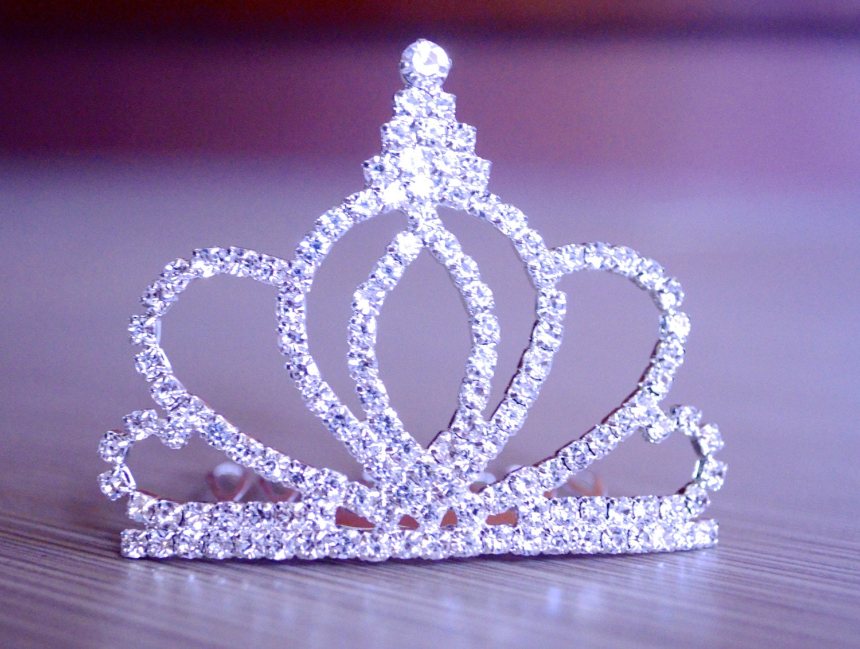 Kronen-Tiara Haar-Kamm-Tiara Prinzessin Diadem Krone