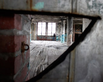 Urban Exploring Abandoned Building Photo Print