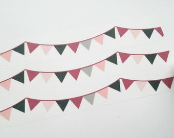 Design Washi tape pennant pink Berry masking tape