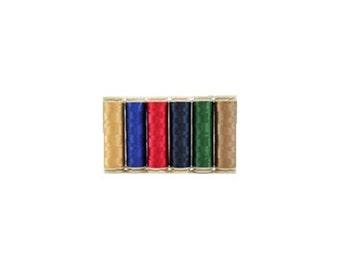 WonderFil InvisaFil Thread Set B003 - Six Spools of 400m 100wt Cottonized Polyester