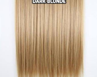 100% Human Hair Flip-in(HALO) extension Hand-made Dark Blonde
