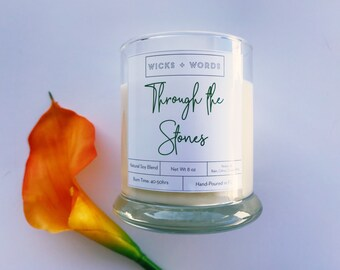 """Wicks + Words - """"Through the Stones"""" - Outlander Inspired Natural Soy Candle"""