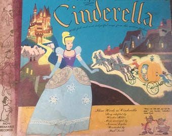 Cinderella Little Nipper Storybook Album, 1949, RCA Victor Y-399, 78 rpm, 2 Records, 24 Page Storybook