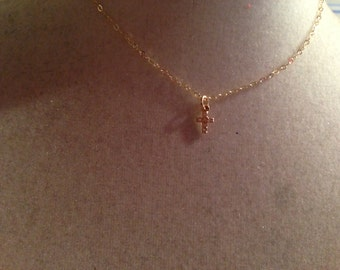 Cross Necklace - First Communion Necklace - Children's Jewellery - Christening - CZ - Gold Filled - Baptism - Dainty